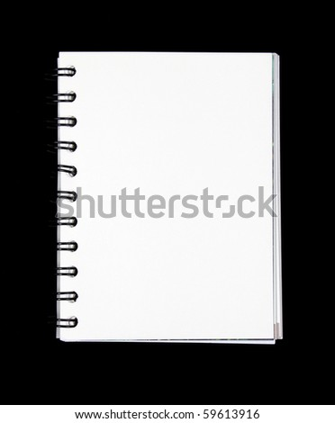 Notebook horizontal single page