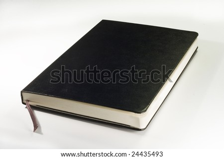 notebook isolated on a white background - stock photo