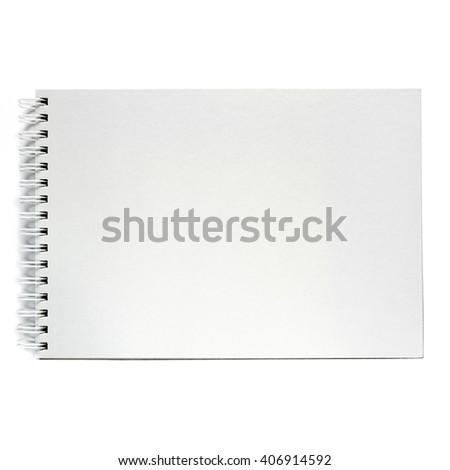 Notebook isolated on white background. Black notepad. - stock photo