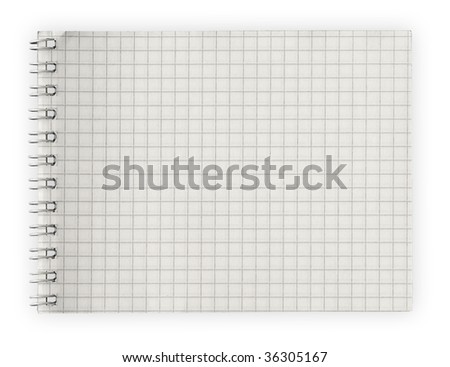 notebook isolated on white background with clipping path