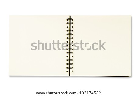 Notebook isolated with clipping path. - stock photo