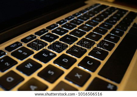 notebook keyboard technology background