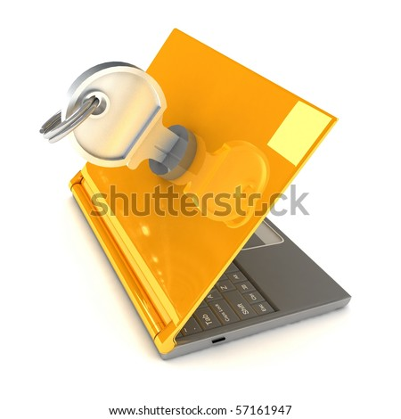Notebook Lockable - stock photo
