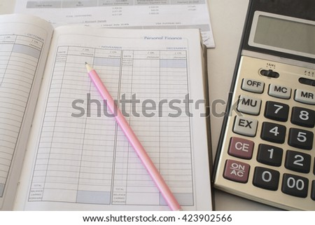 notebook monthly personal finance