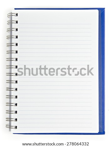 Notebook on isolate white - stock photo