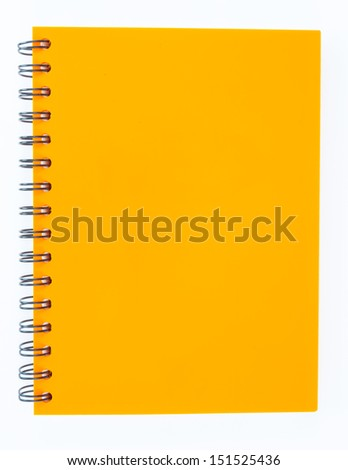 notebook on white background - stock photo