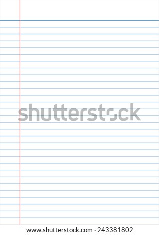 notebook paper full page isolated background empty message