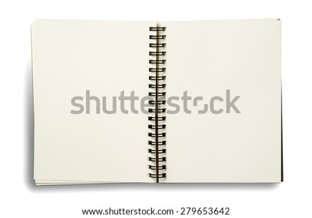 notebook. textured isolated on the white backgrounds - stock photo
