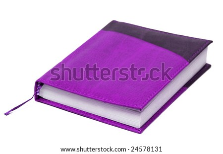 notebook with book-mark isolated on white background