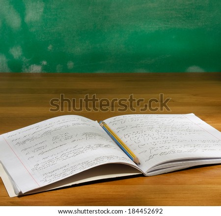 Notebook with pencil - stock photo