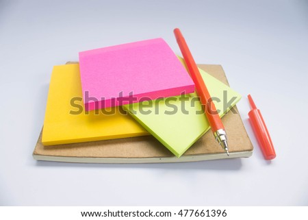 Notebook with school supplies