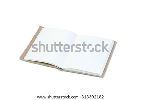 notebook with space isolated on white background. - stock photo