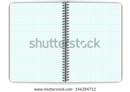 Notebook with squares. Material for the School of Office