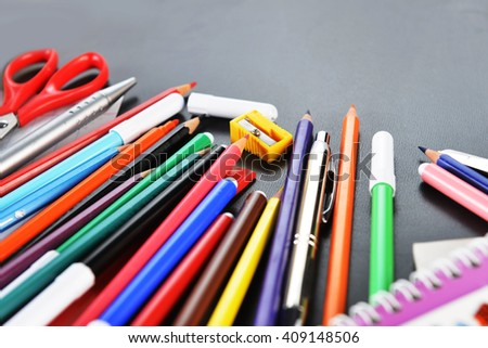 notebooks and other  school supplies