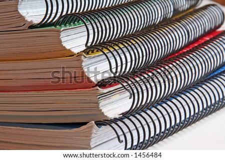 Notebooks, colorful - stock photo