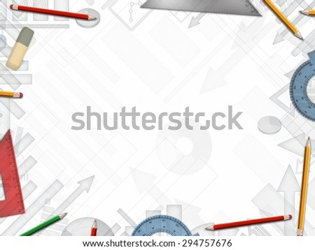 notepad business analysis background illustration - stock photo