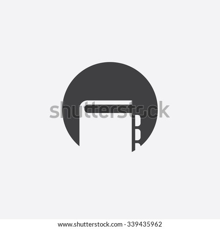 notepad cutted identity template icon design element