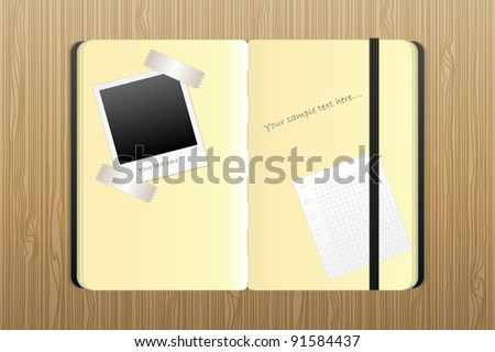 notepad for notes and drawings - stock photo