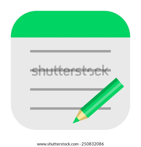 Notepad icon - stock photo