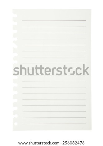 Notepad isolated on white background.