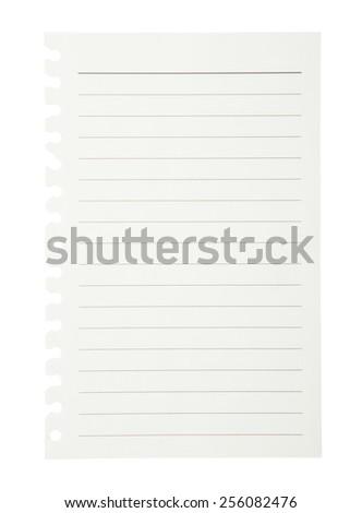 Notepad isolated on white background. - stock photo