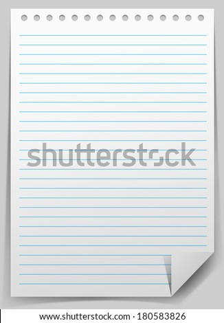 notepad paper sheet - stock photo