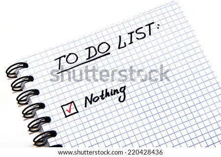 Notepad with a To Do List - stock photo