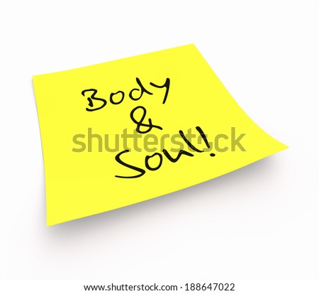 notepaper concept - body & soul