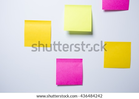 Notepaper on white background