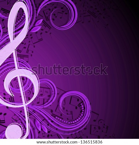Notes musical background - stock photo