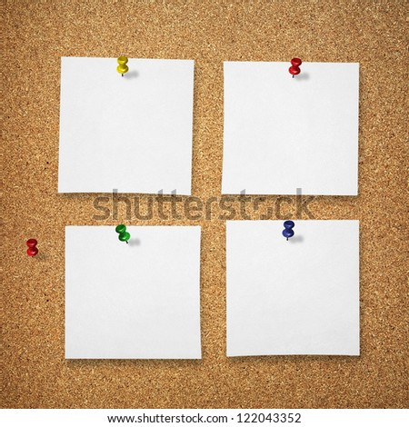 notes on compressed board - stock photo