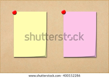 notes paper - stock photo
