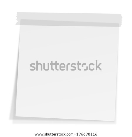 Notes with tape - stock photo
