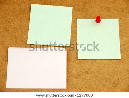 Notice board with post-it notes#3