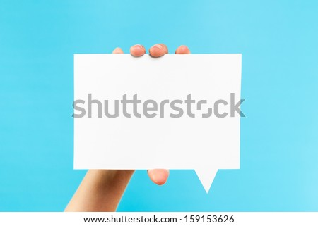 Notification speech bubble concept - stock photo