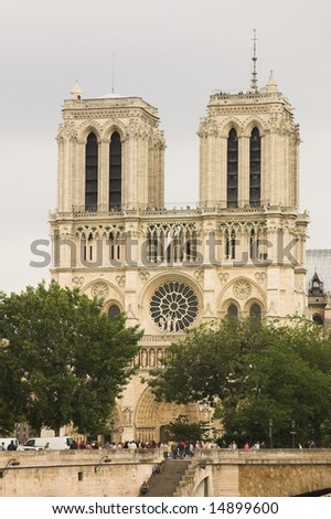 notre dame - stock photo