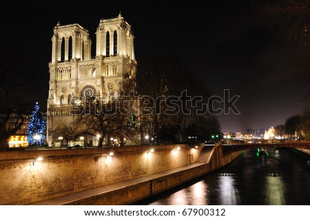 Notre Dame Cathedral and Seine - Paris, France
