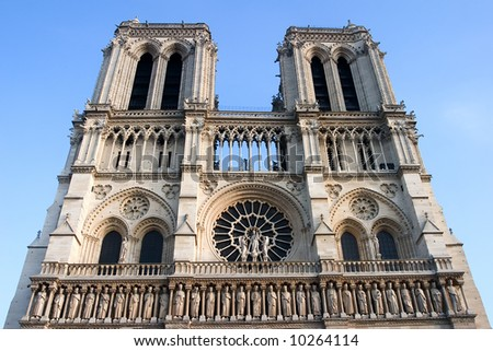 notre Dame church, monument from paris
