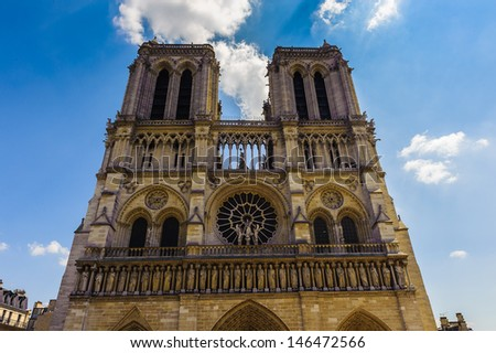 Notre Dame de Paris Cathedral, Paris, France - stock photo