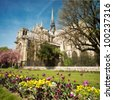 Notre dame de Paris - France - stock photo