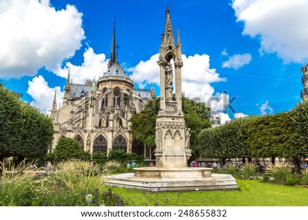 Notre Dame de Paris is the one of the most famous symbols of Paris - stock photo