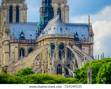Notre Dame Flying Buttresses