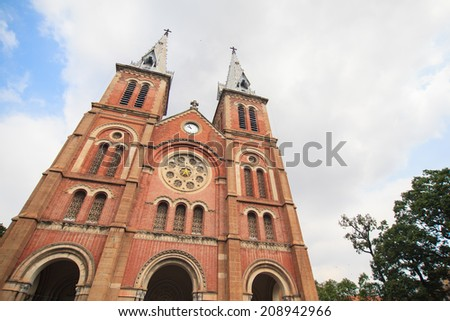 Notre-Dame of Saigon, Ho Chi Minh city, Vietnam  - stock photo