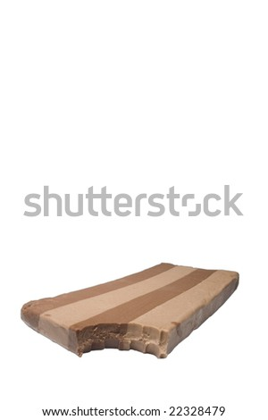 nougat isolated on white background in portrait format