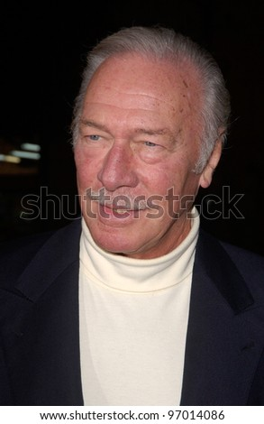 Nov 16, 2004; Los Angeles, CA: Actor CHRISTOPHER PLUMMER at the world premiere, in Hollywood, of his new movie Alexander.