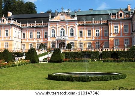 Nove Hrady Palace, Czech Republic, Europa - stock photo