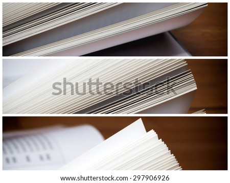 Novel book multilens - stock photo