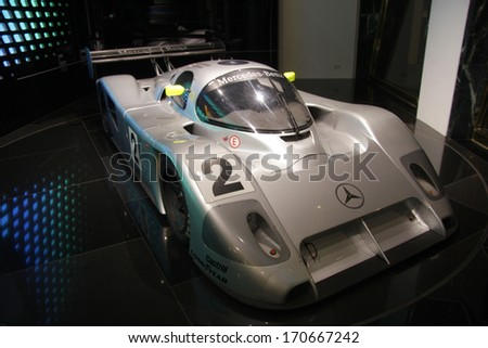 NOVEMBER 2013 - BERLIN: a Mercedes C 291, a legendary racing car of the 1990s, Berlin.