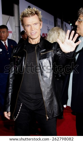 "November 9, 2009. Billy Idol at the World premiere of ""Old Dogs"" held at the El Capitan Theater, Hollywood, Los Angeles.  - stock photo"