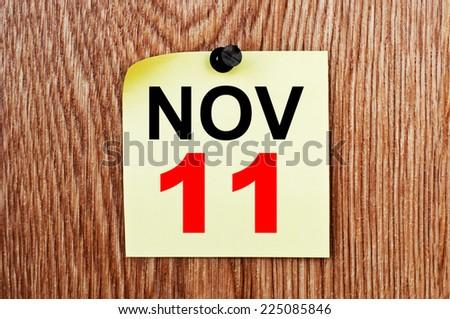 November 11 Calendar - stock photo